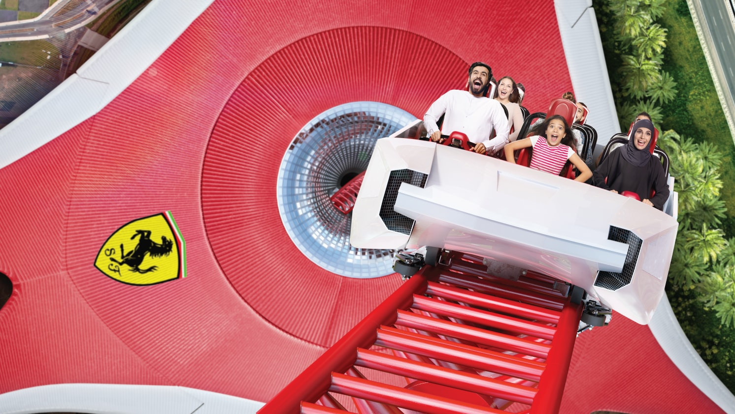 Ferrari World Map.Rides And Attractions Ferrari World Abu Dhabi