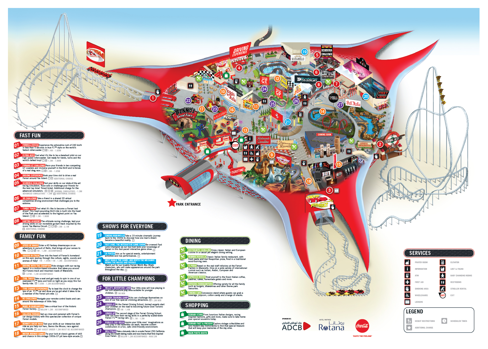 Ferrari World Map.Plan Your Visit To Ferrari World Abu Dhabi