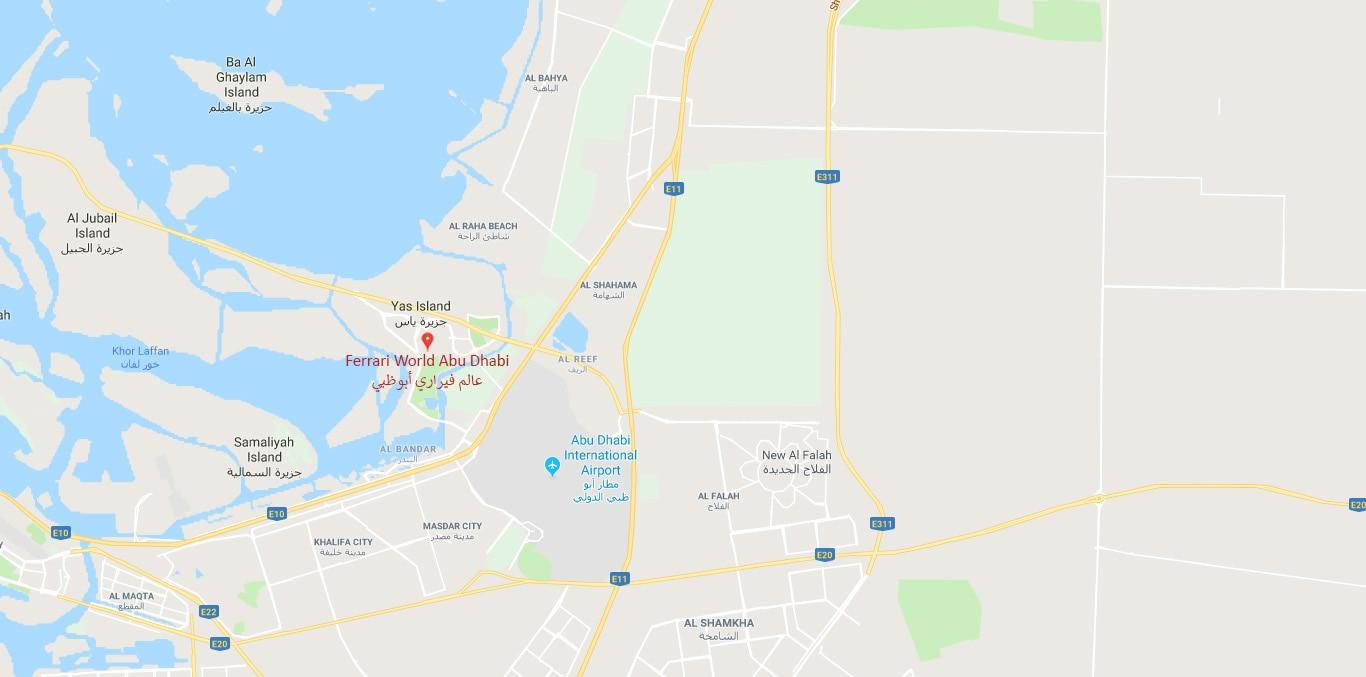 Plan Your Visit to Ferrari World Abu Dhabi Map Of Abu Dabi on dubai international airport, map of bissau, map of dubai, map of ndola, map of saudi arabia, sheikh zayed mosque, etihad airways, ferrari world abu dhabi, burj khalifa, map of doha, emirates palace, map of haydarpasa, map of china, ras al-khaimah, map of muscat, khalifa bin zayed al nahyan, united arab emirates, map of africa, map of india, map of kharian, map of baghdad, map of hong kong, map of sulaymaniyah, map of tel aviv, map of sohar, al ain, map of hadramaut, map of irbil, map of united arab emirates, map of uae, persian gulf,