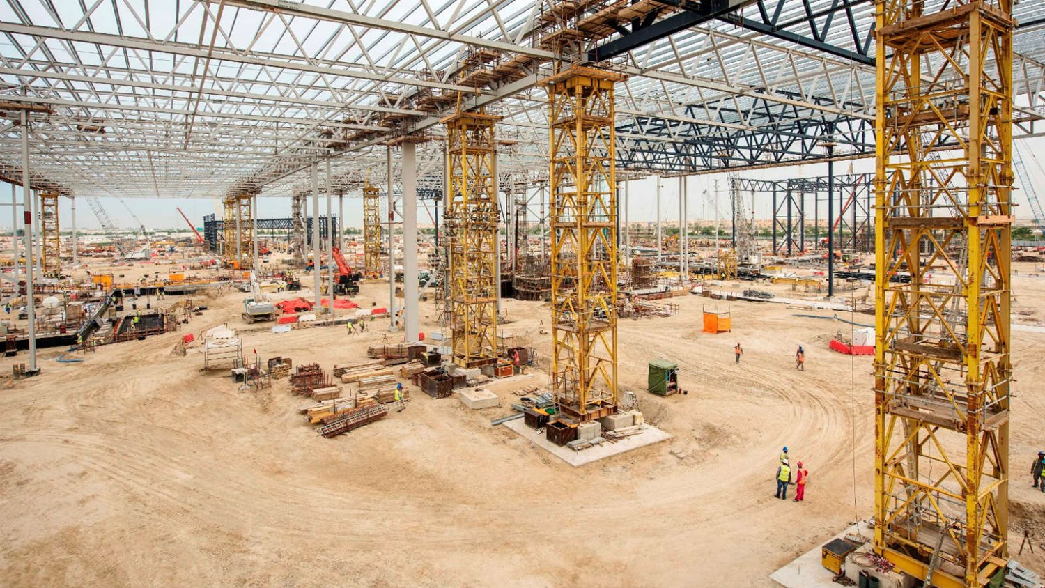 Warner Bros World Abu Dhabi construction