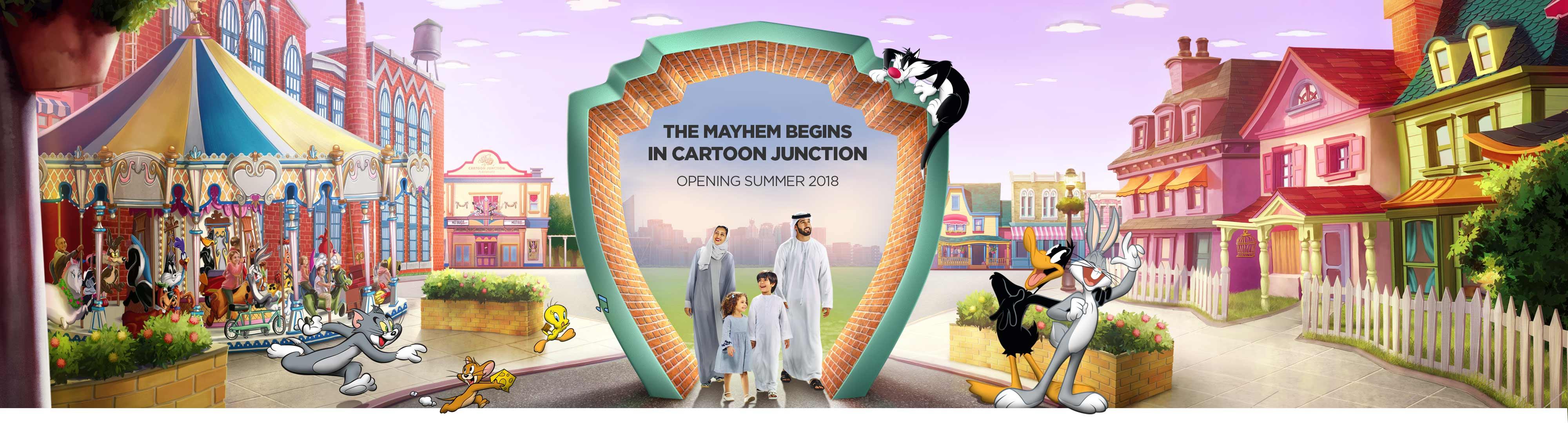 The mayhem beginsin cartoon junction