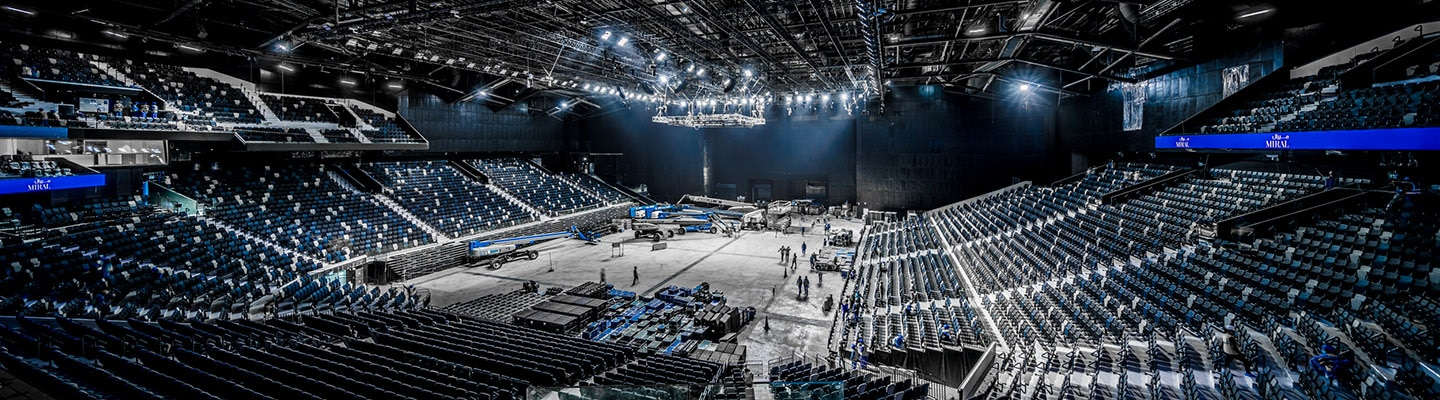 Etihad Arena is a brand new, multi-purpose indoor arena set on the stunning waterfront of Yas Bay