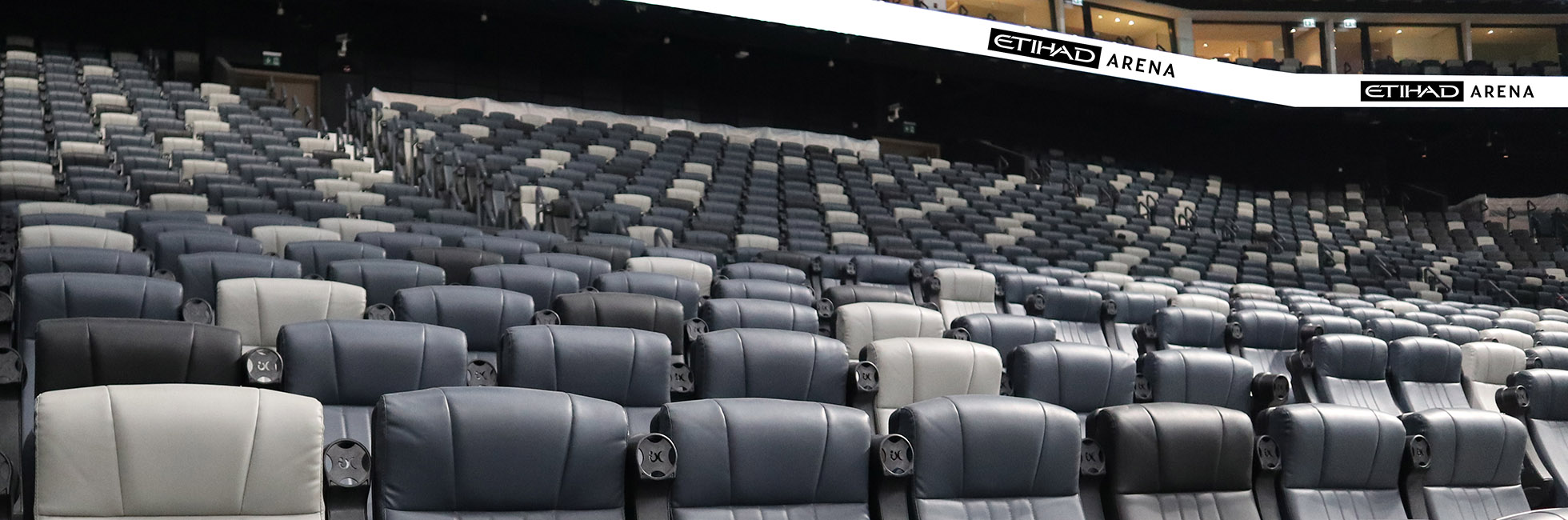 view of the Chairman's Lounge at Etihad Arena