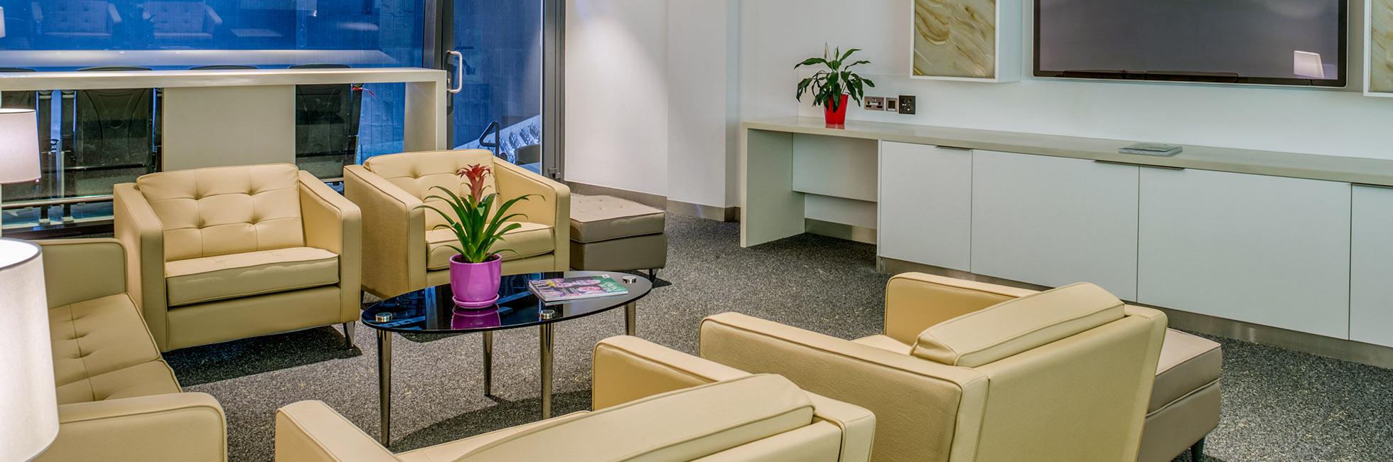 VIP arrival area for Luxury Suites at Etihad Arena