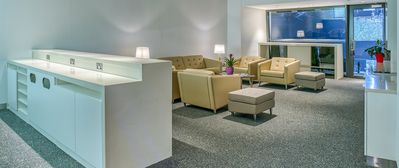 Luxury Suite with serving area and entrance to Main Bowl seating
