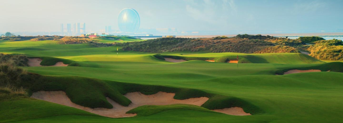 Image of golf course on Yas Island, Abu Dhabi
