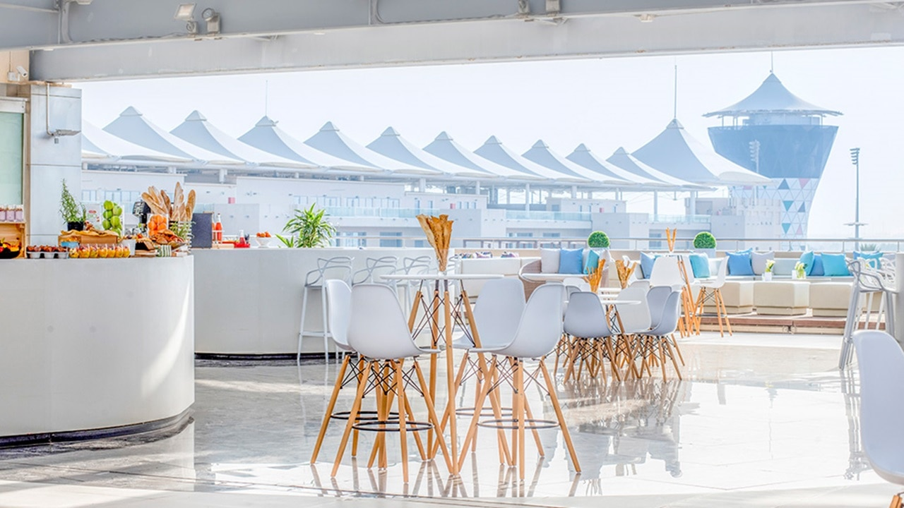 Luna Lounge offering event space for bright and modern outdoor events at Yas Island