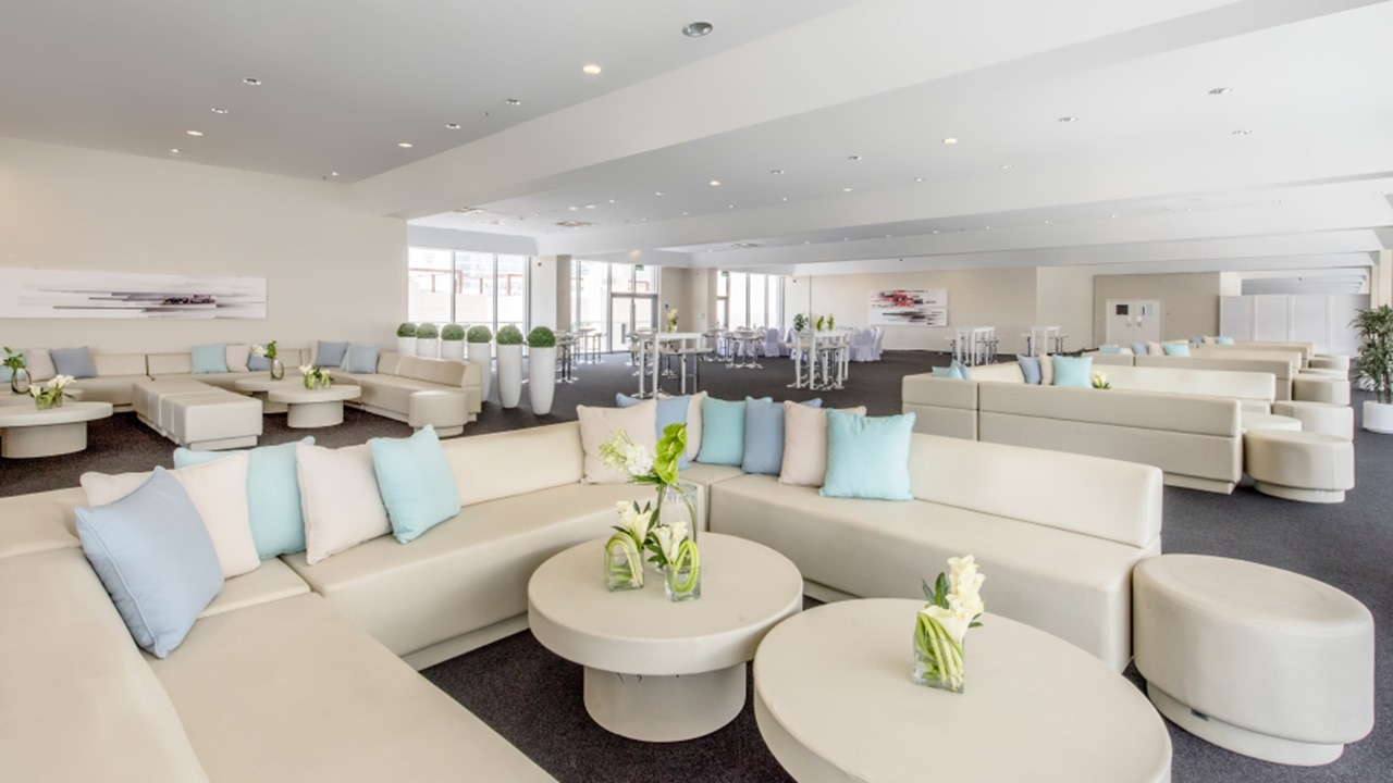 Chic and Spacious Suites at the Paddock Club