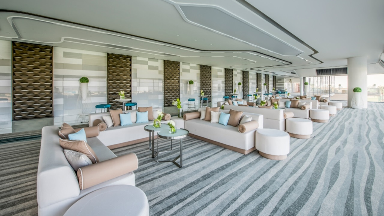 Classy lounge with outdoor balcony to host special events