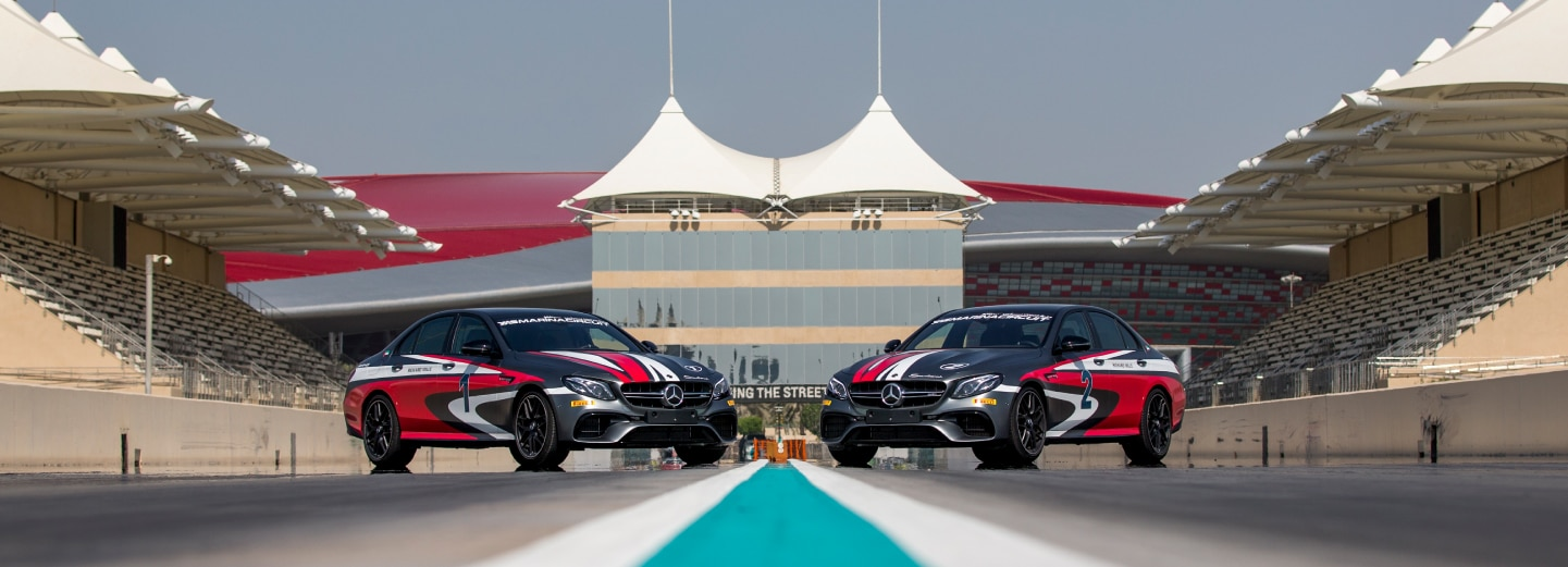 Mercedes head to head on Drag Strip at Yas Marina Circuit