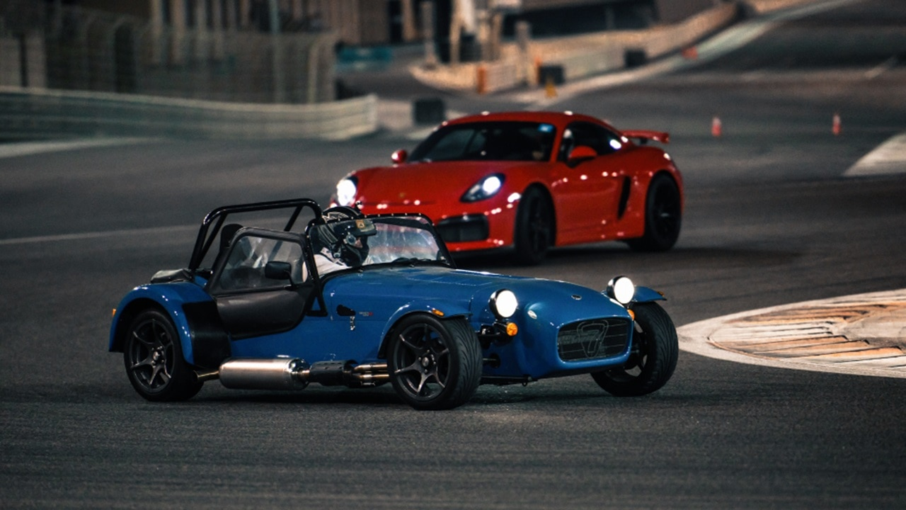 Classic sports cars racing at Yas Marina