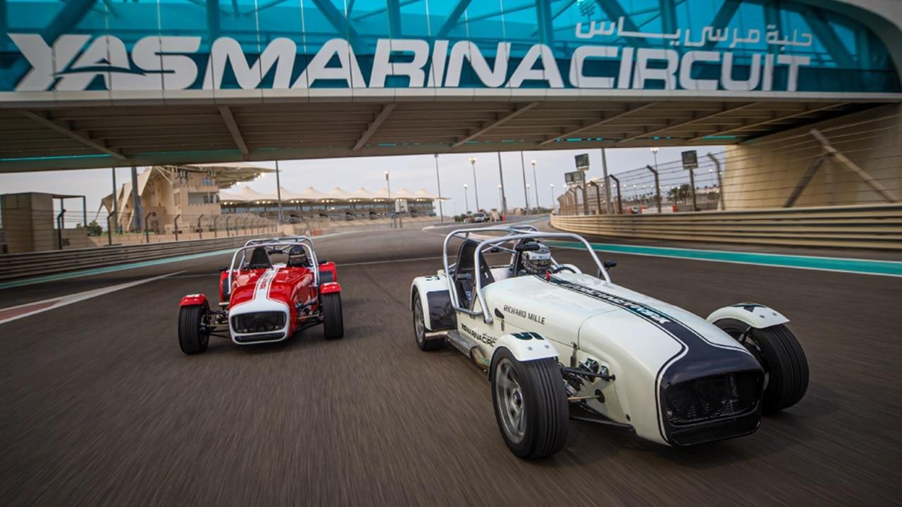 Caterham 7 cars race at Yas Marina Circuit