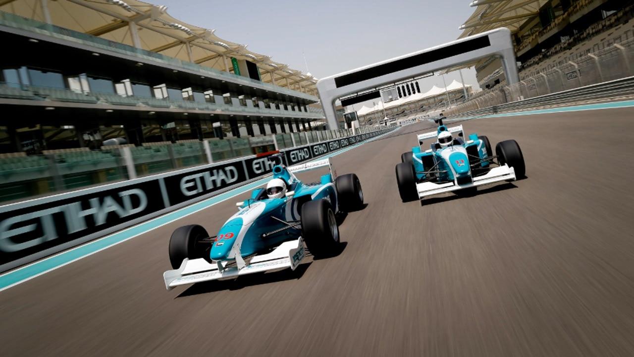 Yas Formula 3000 race at Etihad Grand