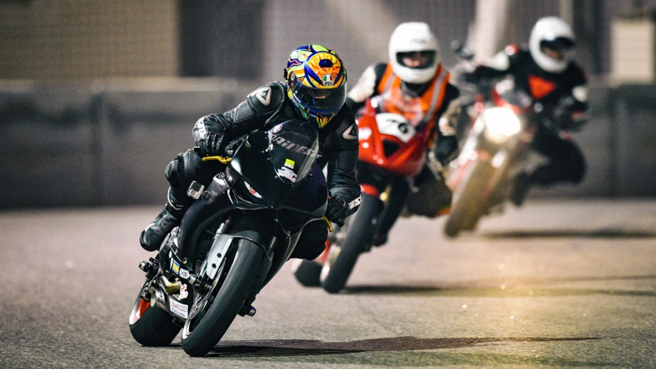 Motorbikes racing at Yas Marina Cir