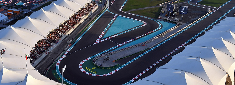 North Grandstand View of Yas Marina Circuit