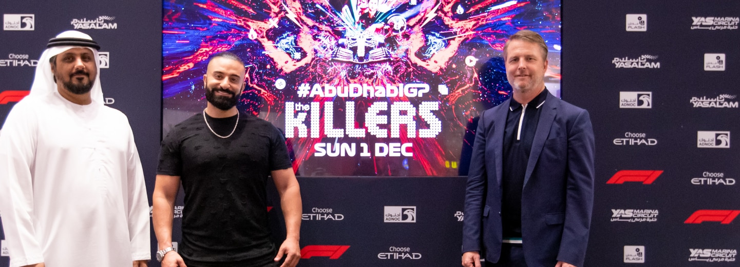 Announcement of the Killers headlining at the Abu Dhabi Grand Prix