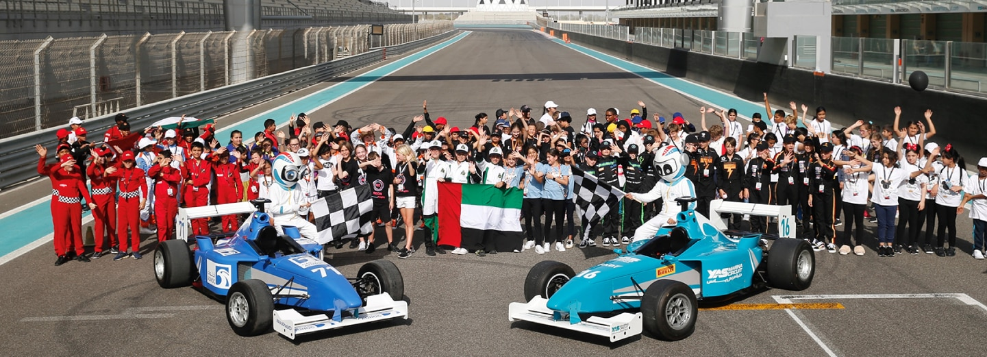 Images of Yas in Schools Champions at Yas Marina Circuit