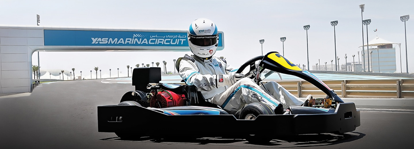 Karting at Yas Marina Circuit, Abu Dhabi