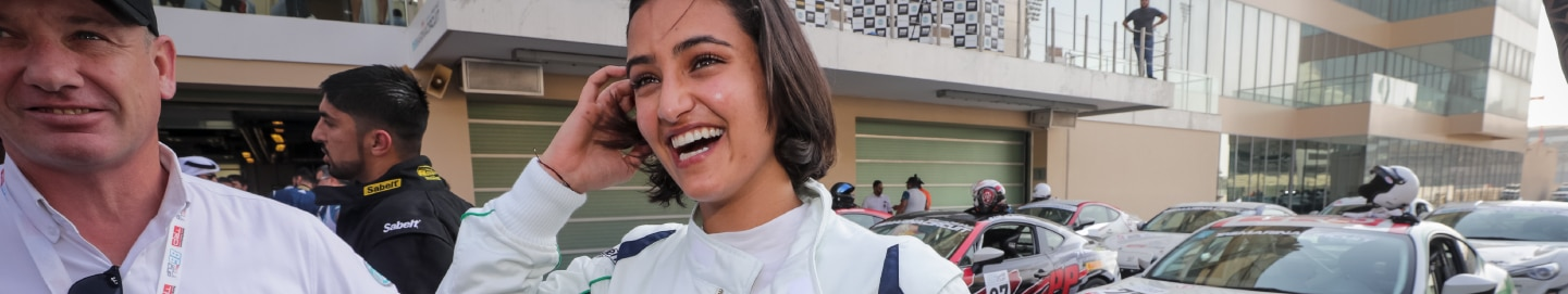 Female driver smiling at TRD 86 Cup